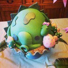 Dinosaur baby shower cake