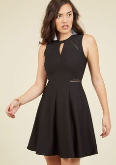 Moxie Must-Have A-Line Dress in Black