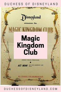The Magic Kingdom Club was Disneyland's first membership club, available to SoCal locals that loved visiting the park on a regular basis. Disneyland History, Magic Kingdom, Club, Cards, Maps, Playing Cards