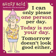 Aunty Acid for 11/20/2017