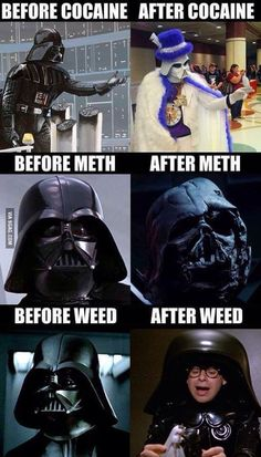 Darth Vader: the Evil Galactic Drug Addict