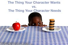 Creating Stunning Character Arcs, Pt. 3: The Thing Your Character Wants vs. The Thing Your Character Needs // I love this so much. It describes how to balance the character's external desires with his internal needs.