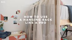 room makeover videos Alright college kids, lets get organized. By lofting the bed, we were able to add a little closet nook in this dorm room using a curtain rod, a clothing rack, and some easy closet hacks. See the full dorm makeover here: Placard Simple, Dorm Hacks, Hacks Diy, Clean Bedroom, Bedroom Cleaning, Bedroom Hacks, Simple Closet, Dorm Room Organization, Organization Ideas