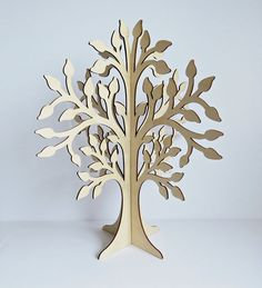 Large Laser Cut Unfinished Plywood Tree - Slot Together Tree - Plywood Tree - Rustic Tree - Large Tree - Wooden Tree