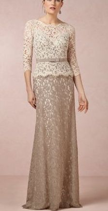 bebd9765d90b Gold, Taupe, and Neutral Mother of the Bride Dresses | For Pam | Bride gowns,  Mothers dresses, Mother of the bride gown