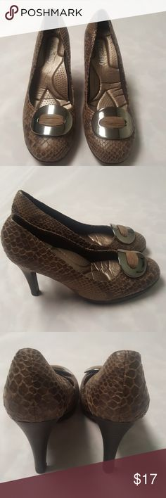 """Picadilly snake print heels. Size 7. Comfort padding 4"""" heels . Gently worn. piccadilly Shoes Heels"""
