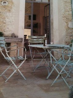 Image detail for -FRENCH COUNTRY COTTAGE: Shabby Bistro Chairs from Kmart