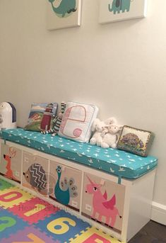 Custom Made Ikea KALLAX Custom Cushion Playroom, Nursery, Organization Bench Seat Ikea Expedit Replacement, Kallax Bench , Playroom Cushion Girl Room, Girls Bedroom, Bedroom Decor, Custom Cushions, Bench Cushions, Outdoor Cushions, Outdoor Chairs, Kallax Ideas, Kallax Hacks