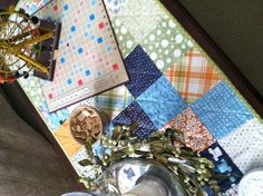 Table top quilt...so simple!
