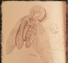 dibujo libelula