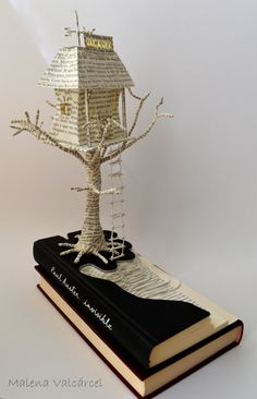 Book Art Book Sculpture Haunted Hotel by MalenaValcarcel