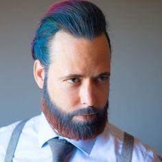 Couleur de cheveux bleu homme