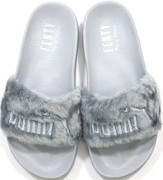 5d17d38747e82f Rihanna X Puma Leadcat Fenty Flur Sandals Silver 362266 09 Womens Sz US      Check out the image by visiting the link.