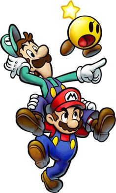 Mario & Luigi: Dream Team (Mario & Luigi RPG Dream Adventure in Japan) is a new upcoming fourth installment of the Mario & Luigi series f. Mario and Luigi: Dream Team Mario And Luigi Games, Mario Und Luigi, Mario Kart, Super Mario Kunst, Super Mario Art, Super Mario World, Super Mario Tattoo, Super Mario Brothers, Video Game Art
