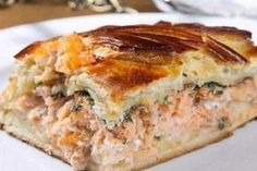 The most delicious fish pie for three pennies. This is a wonderful recipe.- The most delicious fish pie for … - Easy Salmon Recipes, Avocado Recipes, Fish Recipes, Lunch Recipes, Seafood Recipes, Cooking Recipes, Fish Pie, Wonderful Recipe, Russian Recipes