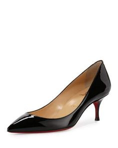 S0FXE Christian Louboutin Pigalle Follies Degrade Patent Red Sole Pump, Black