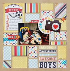 Hero *Scraptastic* by Madeline @Two Peas in a Bucket