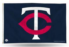 Minnesota Twins MLB 'TC' Logo House/Porch/Banner 3X5 Flag