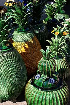 Piña or pineapple pottery from Michoacan, Mexico - typically used for serving alcoholic drinks like ponche or pulque