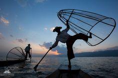 Fishermen Inle Lake by MarcoGrassi