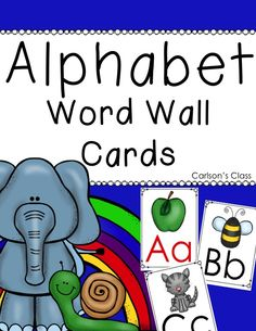 ***FREEBIE*** Alphabet Word Wall Cards for your word wall or as flashcards.  Super cute!!