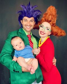 Family Themed Halloween Costumes, Family Costumes For 3, Pregnant Halloween Costumes, Halloween Cosplay, Halloween Kids, Halloween Customs, Group Costumes, Halloween 2017, Baby Costumes