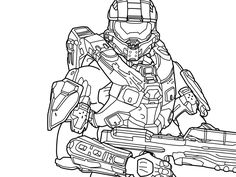9 Best Halo 5 4 3 Reach Coloring Pages Images Coloring Pages
