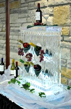 Thorpe - you NEED this for the next event you host! Wedding Shower Decorations, Table Decorations, Ice Sculpture Wedding, Ice Art, Snow Sculptures, Ice Ice Baby, Snow And Ice, Something Blue, Girl Cartoon