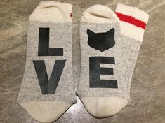 L O V E (Word Socks - Funny Socks - Novelty Socks) for Family and Extended Family (pets) E Words, Custom Socks, Extended Family, Funny Socks, Novelty Socks, Wool Socks, Happy Socks, Unisex Fashion, Suits You