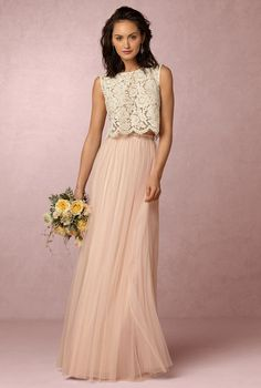 BHLDN Cleo Top Louise Tulle Skirt