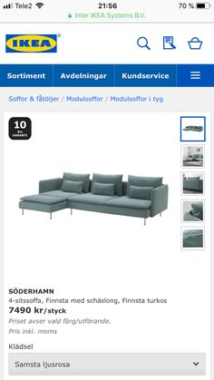 Ikea, Couch, Furniture, Home Decor, Decoration Home, Room Decor, Sofas, Home Furniture, Sofa