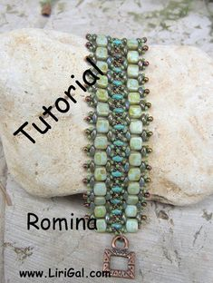 Tutorial PDF Romina SuperDuo e mattonelle perline di Lirigal