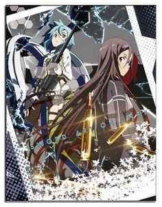Sword Art Online Throw Blanket - Sinon & Kirito Gun Gale Online Sublimation @Archonia_US