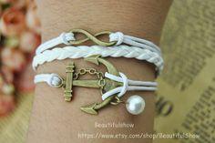 Retro Infinity bracelet  Anchor bracelet  Beads by BeautifulShow, $2.99