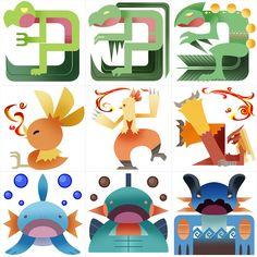 PokeMonster Hunter Gen 3 Starters by Gryphon-Shifter on deviantART