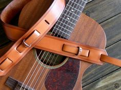 Custom Leather Guitar Strap Vintage Style Handcrafted by JPDco