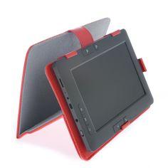 Funda - soporte para eBook o Tablet de 7 pulgadas, en color rojo