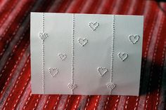 DIY needle punch cards