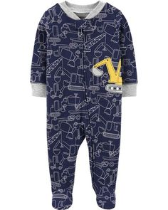 Carters Baby Boy 2 Coveralls Size 3 6 Months Sport Navy Blue Layette Super Soft