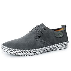 608f928a75 US Size 6.5-12 Men Casual Suede Lace Up Outdoor Soft Flats Worldwide  delivery.