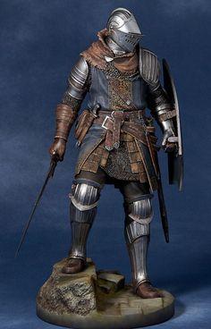 Dark Souls Knight of Astora Oscar scale figure Larp Armor, Medieval Armor, Medieval Fantasy, Fantasy Armor, Fantasy Weapons, Dark Fantasy, Armadura Medieval, Fantasy Inspiration, Character Inspiration