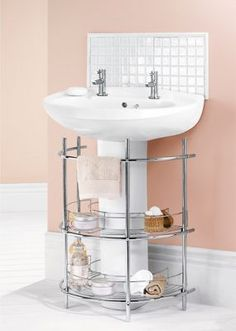 Under The Sink 2 Tier Bathroom Storage Unit Chrome