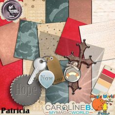 Patricia       Faithfull and feminin, this mini-kit (soon to be developped) includes :  - 5 papers,  - 7 elements.               http://carolineb.fr/index.php?main_page=product_info&products_id=691
