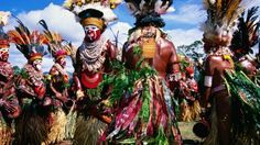 Melpa women of the Western Highlands Province performing at the Papua New Guinea 'Hagen Show'.