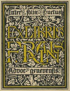 [Bookplate of F. Raisin] by Pratt Institute Library, via Flickr