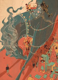Wonderful Creatures by Victo Ngai, via Behance