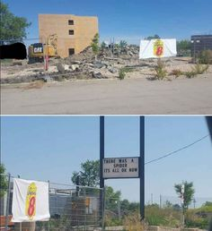 The local Super 8 motel is being rebuilt. Didn't know why until the sign appeared.