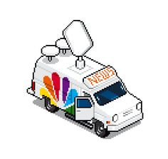 eboy zoomed pixel ABC Station truck from 8bitdecals