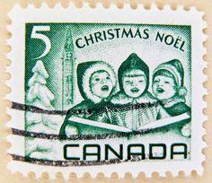 Vintage Canada Christmas Noël .5¢ postage stamp