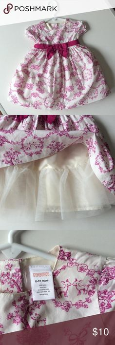 Gymboree dress size 6-12 mos Classic toile print dress with built in petticoat for extra fullness!  Gymboree size 6-12 mos Gymboree Dresses